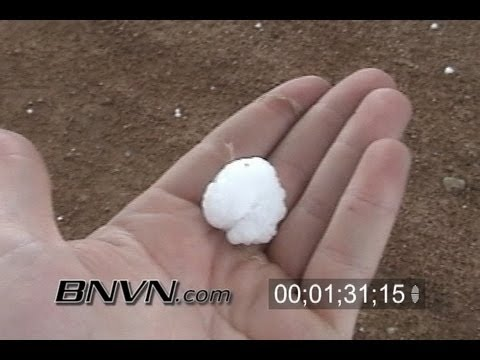 Various Hail Video Clips of large hail falling