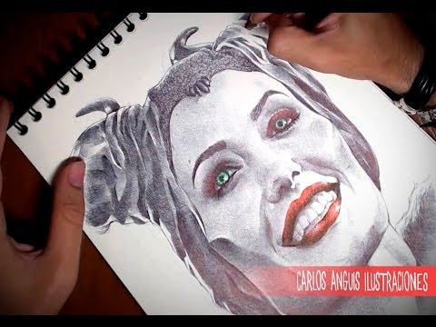 Drawing Maleficent Dibujando a Malefica
