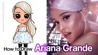 How to Draw Ariana Grande | No More Tears Left To Cry Music Video