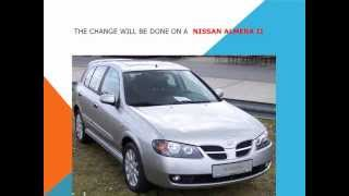 How to replace the air cabin filter   dust pollen filter on a Nissan Almera II