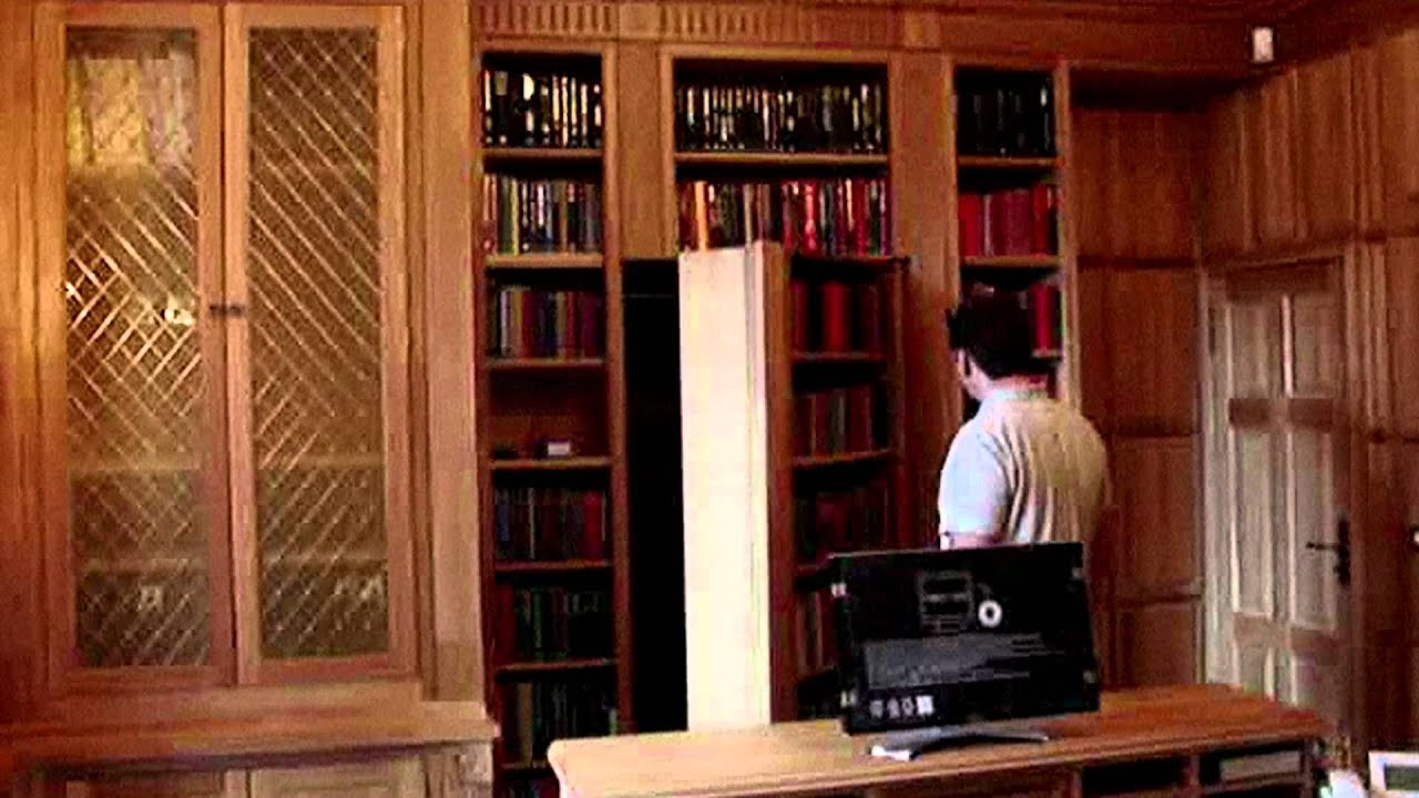 Secret Door Bookcase Door Hidden Door Youtube
