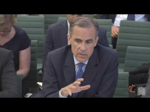 Jacob Rees-Mogg and Mark Carney clash