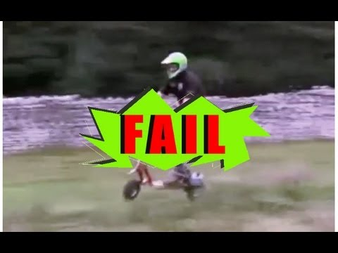 Go Ped Grass Track Epic Fail
