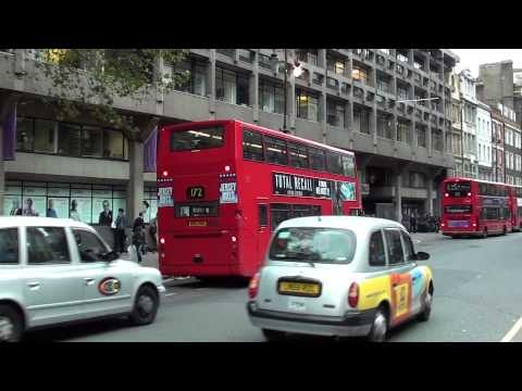 (HD) London Buses on Route 15 & 172 at Aldwych
