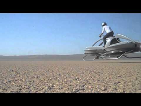 Una bicicleta voladora que flota de verdad
