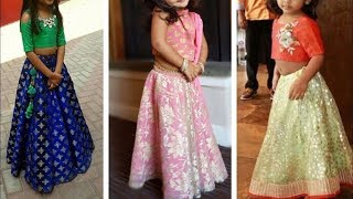 Crop Top Lehenga Designs Ideas For Kid || Beautiful Indo Western Dresses For Little Girls