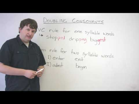 English Spelling – When to Double Consonants