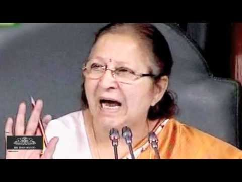 Murder of Democracy |  Sumitra Mahajan on Congress Protests