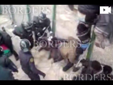 Belletti va gravar des de dalt de la tanca de Melilla el salt on va ser expulsat il·legalment