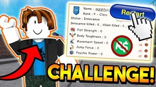 STARTING OVER WITH NO ROBUX CHALLENGE! | ROBLOX: Super Power Training Simulator