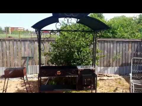 Как сделать крышу над мангалом своими руками фото