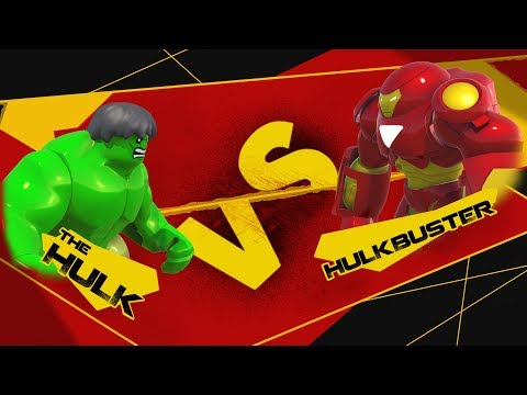 HULK vs HULKBUSTER LEGO Marvel Battle