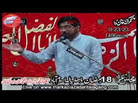 allama ali nasir talhara  18 Ramzan Dhalyala 2018