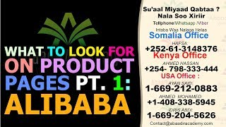 What to Look for on Product Pages Pt. 1: Alibaba