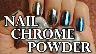 "CHROME NAILS // Tutorial metalické ""kovové"" nehty - magic/miror powder"