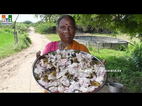 Village Style Big Mutton Head Curry Making #Grandma Foods