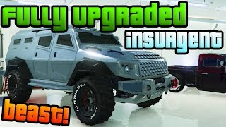 "GTA Online: New ""Heists"" DLC Armored Truck! - Fully Upgraded ""HVY Insurgent"" (GTA 5 Heists DLC)"