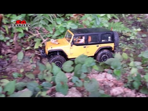 5 Scale Trucks offroad 4x4 Adventures - scx10 Jeep Brute honcho Land Cruiser Pickup - Part 1