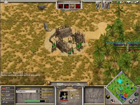 Age of Mythology The Titans x Hamachi: Hades, Poseidon & Isis VS Ra (CPU TITAN) - Parte 2/3