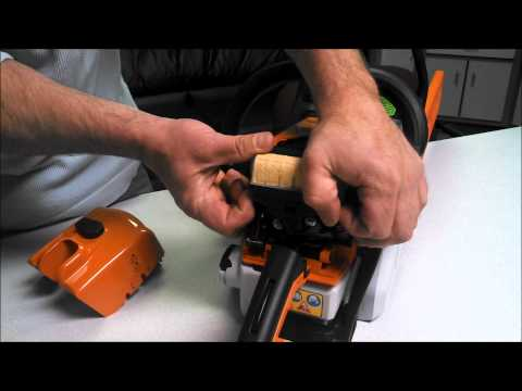 How to remove the Air Cover and Air Filter off of a MS250 Stihl Chainsaw
