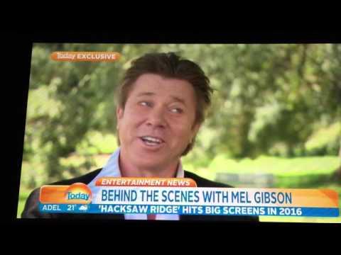 Mel Gibson On Set Of Hacksaw Ridge