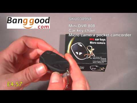 Review DVR808 car key chain micro camera pocket camcorder from Banggood dot com - item SKU038958