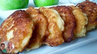 Оладушки с Яблоками! Оладьи из яблок! Ну, очень вкусные!
