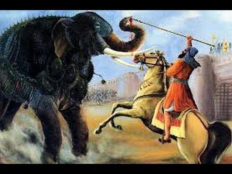 LIfe Story Guru Gobind singh Ji 066 -Bhai Bachittar Singh War With Mast Hathi