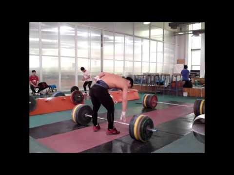 Tian Tao 180kg Power Clean and Jerk Image 1