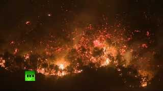 Video: Wildfires engulf southern (California)  5/15/14