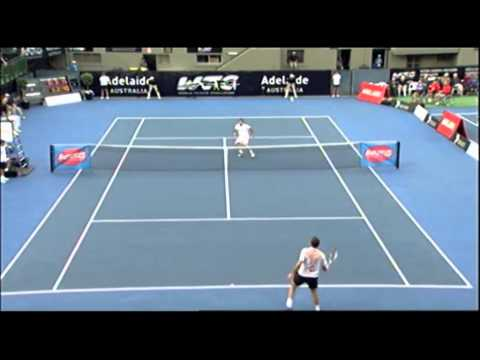Tommy Haas v Stanislas Wawrinka: World Tennis Challenge Adelaide 2012