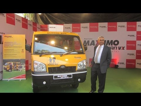 Mahindra Launches Maxximo MiniVan VX School Bus With World Class Safety Features