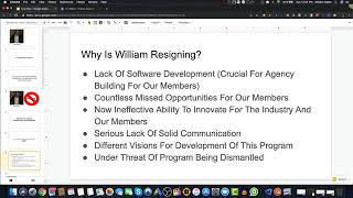 RE: William's Resignation