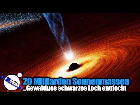 Gewaltig: 20 Milliarden Sonnenmassen - Supermassives schwarzes Loch