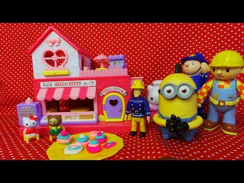 Unboxing Of Hello Kitty Cool Cafe Restaurant with Play-Doh Food For Fireman Sam