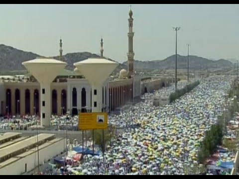 Hajj pilgrims travel to Mount Arafat near Mina