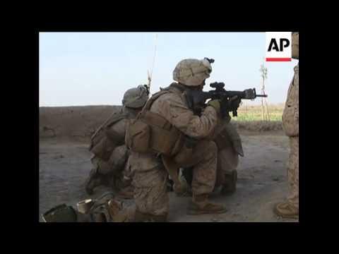 US Marines in action during Operation Moshtarak
