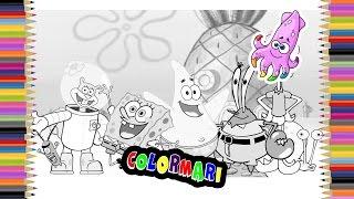 Spongebob Coloring Book Pages for Kids Episode 4