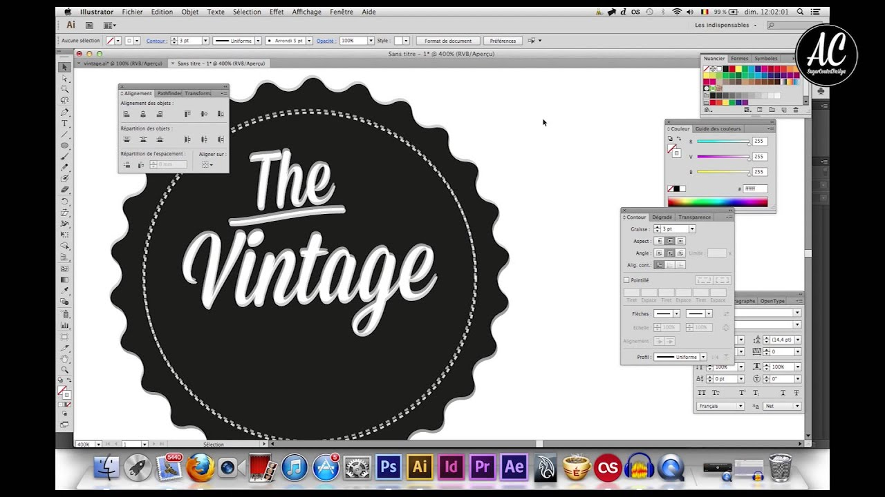 Illustrator Tutoriel Pour R 233 Aliser Un Badge Vintage