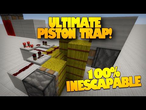 Minecraft Redstone   The BEST Minecraft Trap   100% Inescapable Piston Trap! (Minecraft Redstone)