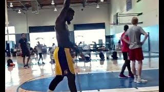 Lance Stephenson Practicing and Working Out In Lakers Shorts!