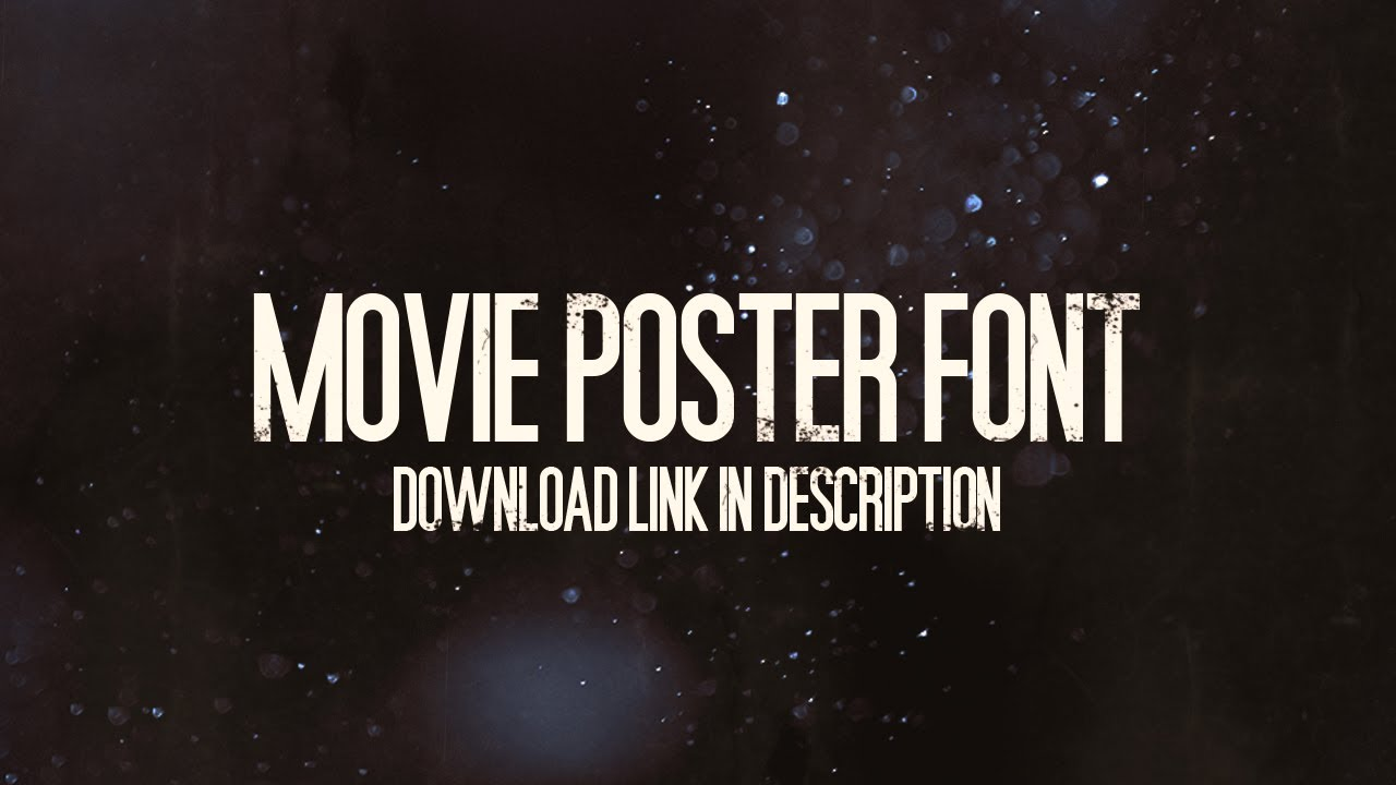 Movie poster font free download