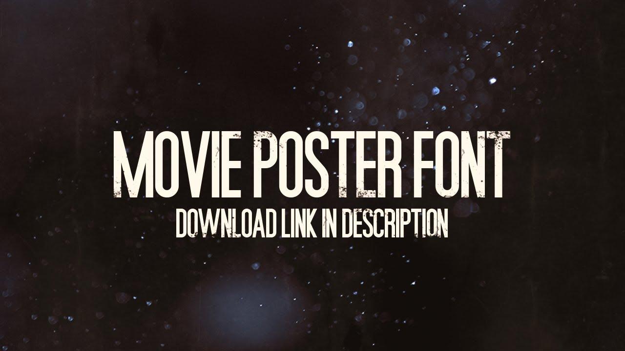 Movie poster cast font