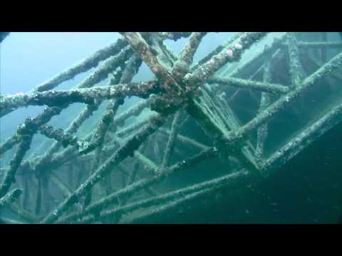 See the wreck right after it was sunk - then 14 months later! 2009 footage shot by Jerry J. Petru & 2010 footage shot by Margo Cavis. Produced by Digital Elv...