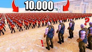 10.000 ZOMBİ VS 5 THANOS! 😱 - Süper Kahramanlar