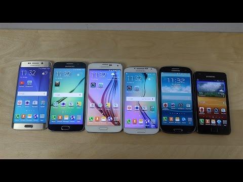 Samsung Galaxy S6 Edge vs. S6 vs. S5 vs. S4 vs. S3 vs. S2 - Benchmark Speed Test! (4K)