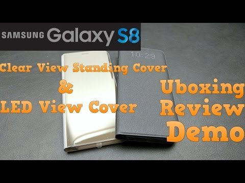 Samsung Galaxy S8 Clear View Standing Cover & LED View Cover | Unboxing | Demo | Review