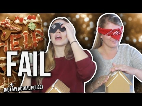 THE BIGGEST FAIL BLINDFOLDED GINGERBREAD CHALLENGE EVER
