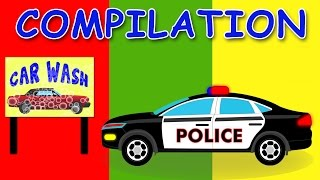 CAR WASH | COMPILATION | Videos For Children | Videos for kids | Learn Vehicles
