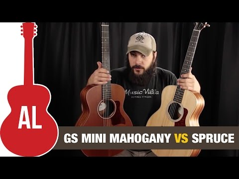 Taylor GS Mini Mahogany vs Spruce - Can you hear the difference?